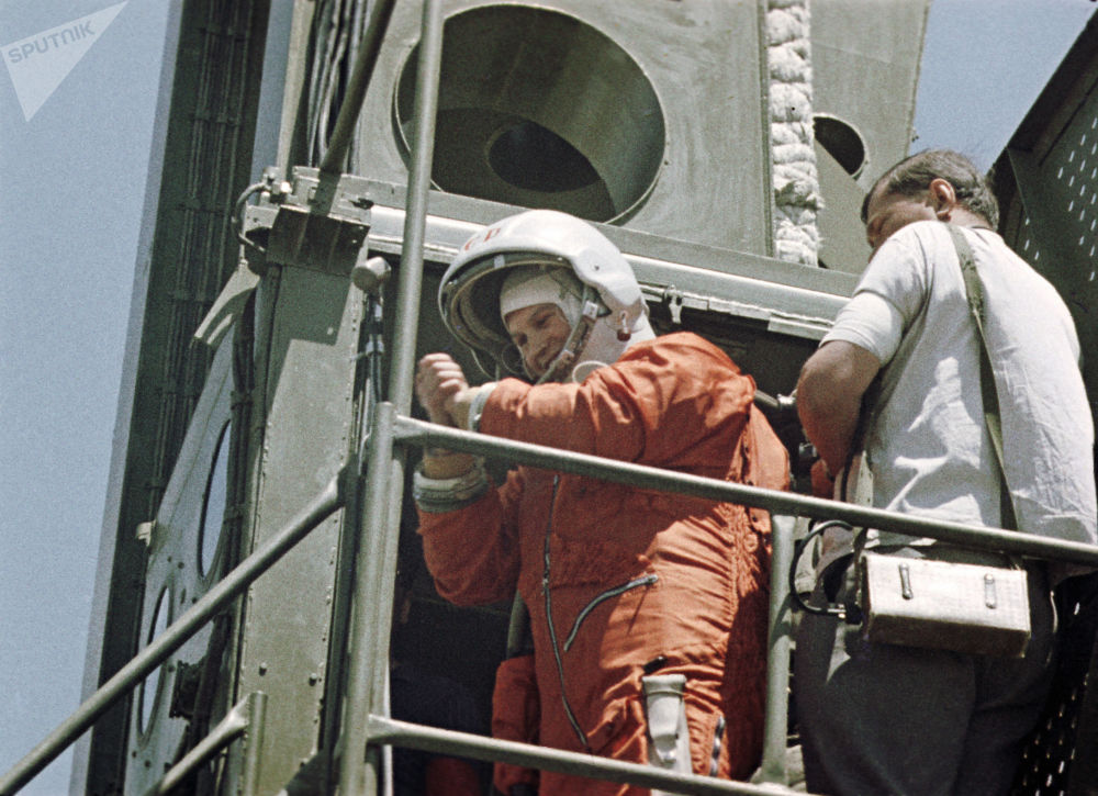La cosmonauta russa Valentina Tereshkova.