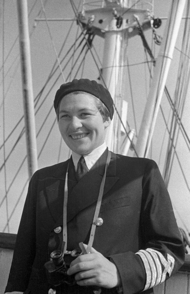 La prima donna capitano di lungo corso Anna Scetinina.