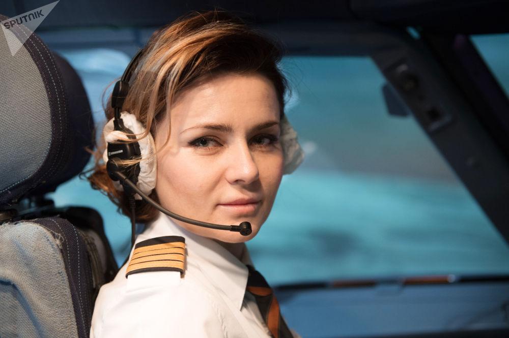 La pilota comandante Maria Uvarovskaya.