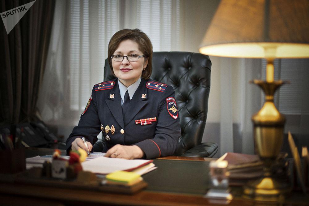 Il capo della Direzione generale di migrazioni del ministero degli Interni russo Olga Kirillova.