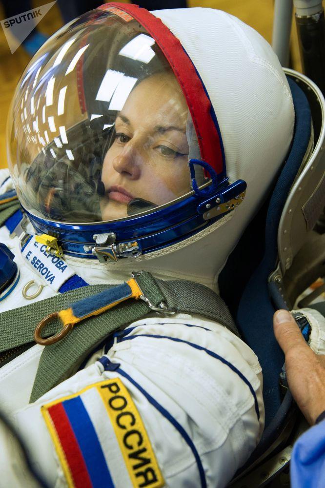La cosmonauta Elena Serova.