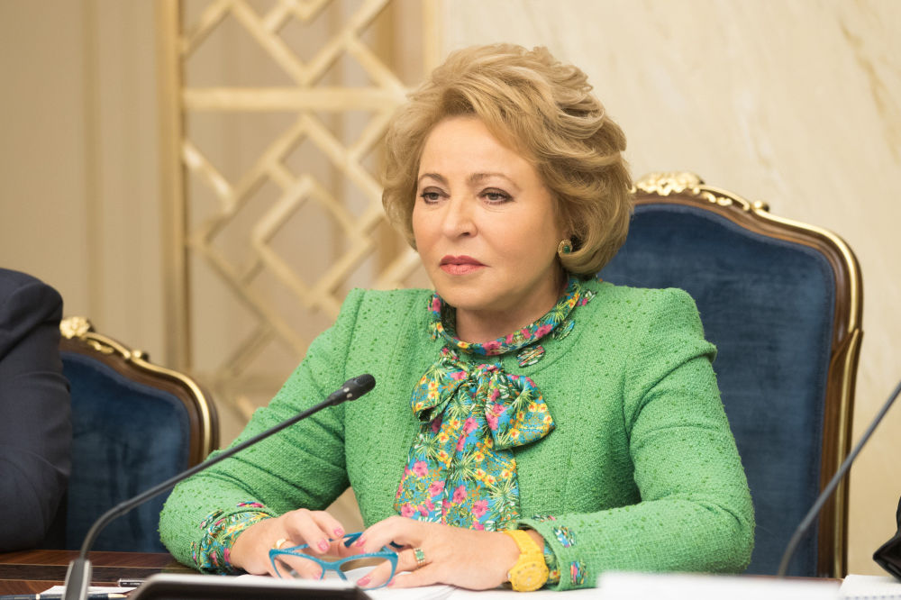 La presidente del Consiglio della Federazione russo Valentina Matviyenko.