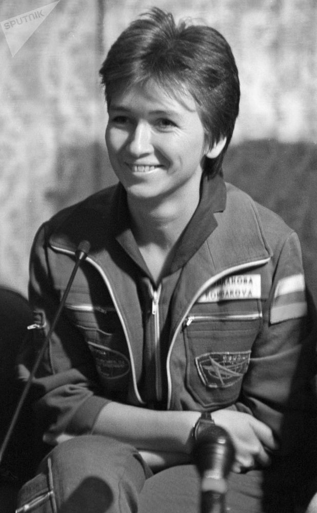 La pilota spaziale Elena Kondakova.