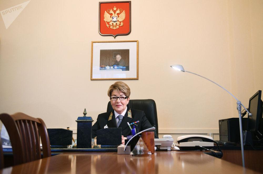 L'ambasciatore straordinario e plenipotenziario russo Eleonora Mitrofanova.