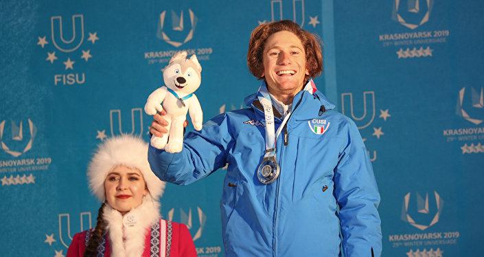 Alberto Blengini, argento nello slalom gigante