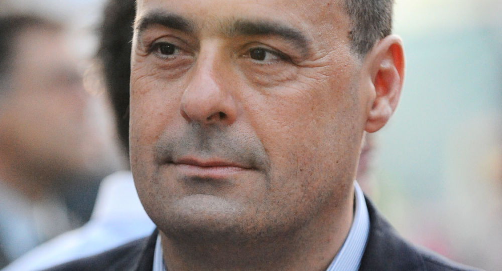 Il neoeletto segretario del PD Nicola Zingaretti