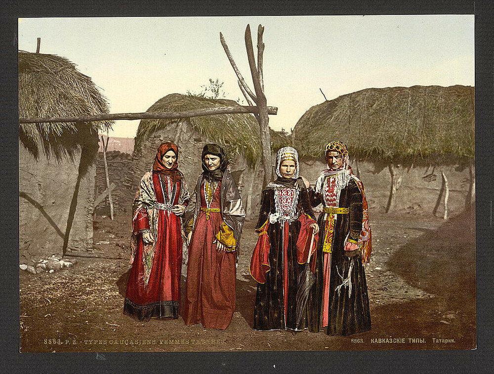 1863, Donne tartare in una fotografia a colori