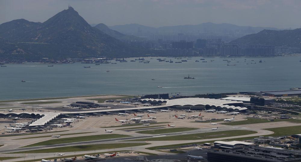 L'aeroporto internazionale di Hong Kong, anche conosciuto come il Chek Lap Kok Airportx