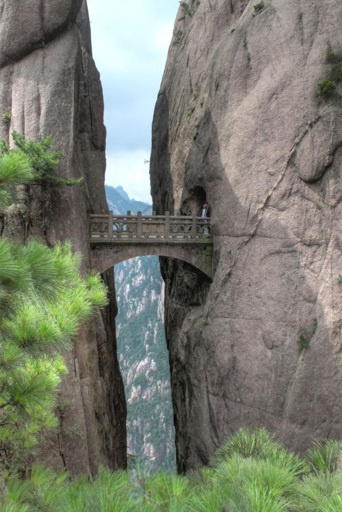 Monte Hua - Cina: il ponte Buxian
