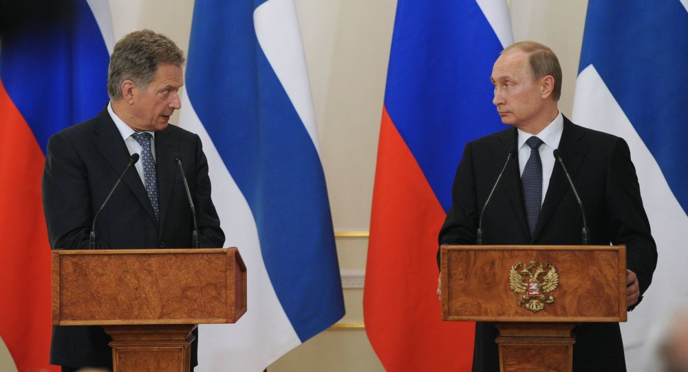 Vladimir Putin e il presidente della Finlandia Sauli Niinistö