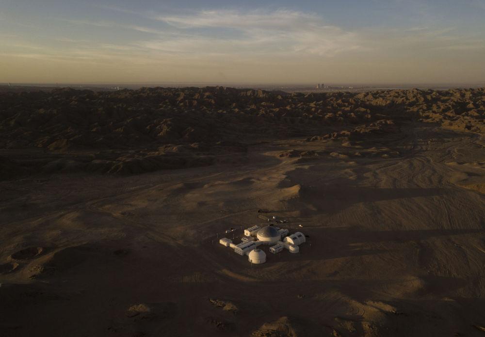 Veduta della Mars Base 1 dall'alto