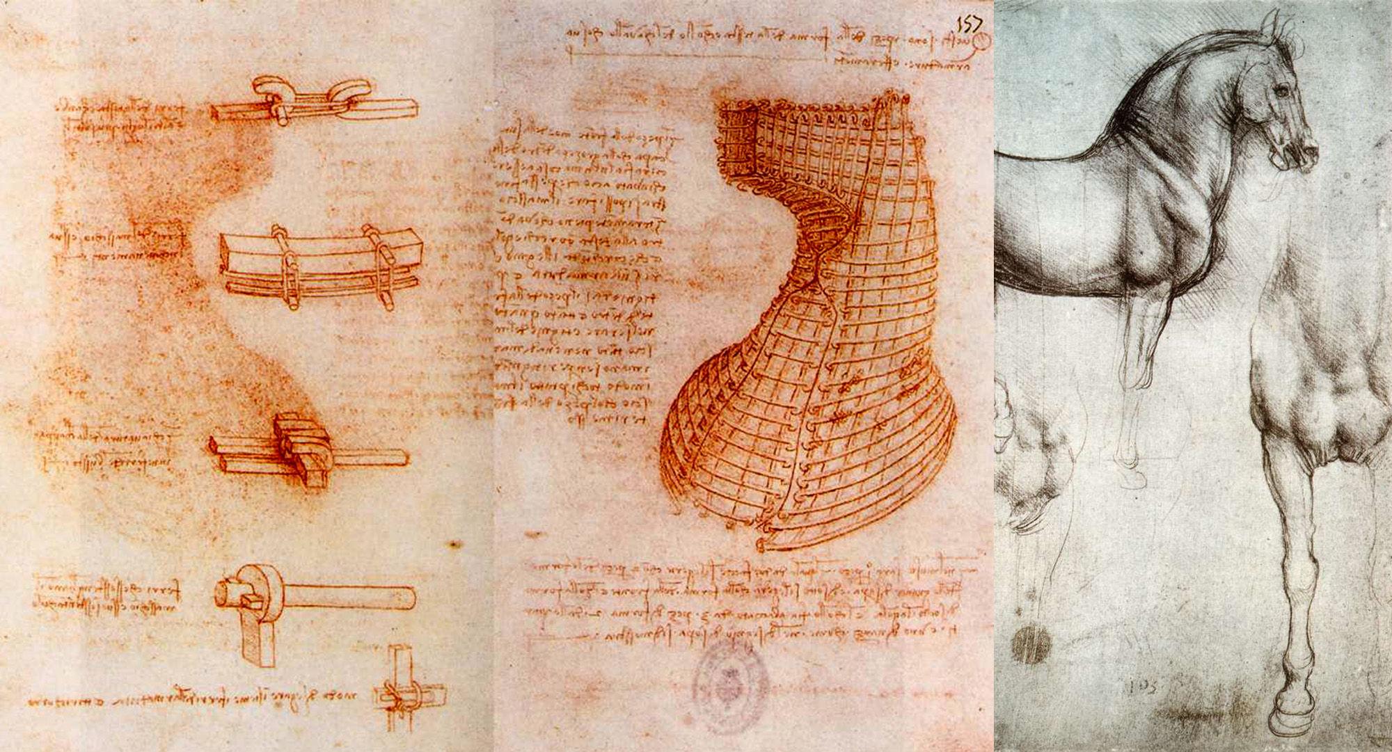 Studi per la stata equestre (Biblioteca Nacional, Madrid e Castello di Windsor)