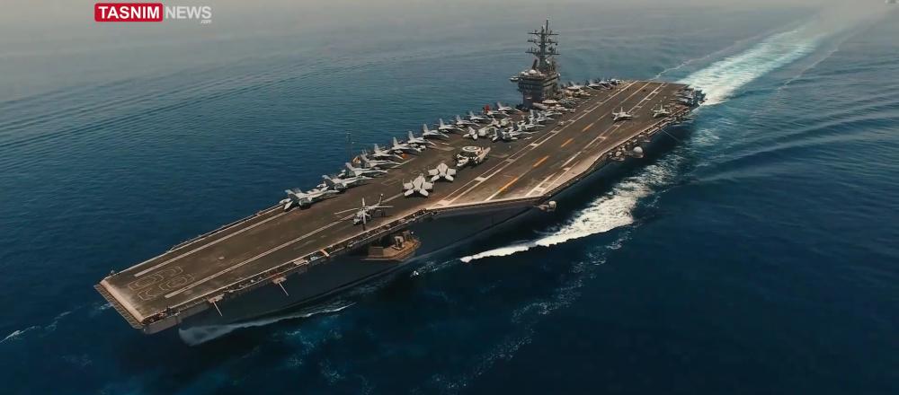 Portaerei americana nel Golfo Persico (foto d'archivio)