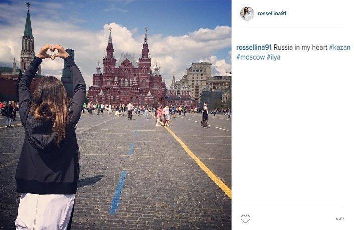 Rossella Fiamingo a Mosca dopo la vittoria nel campionato del mondo di scherma