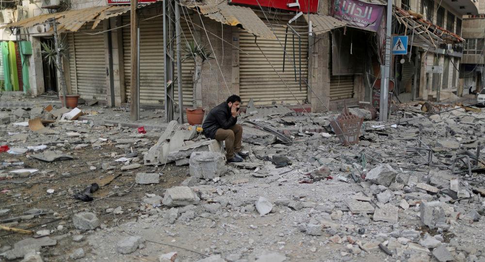 Distruzione a Gaza dopo bombardamenti israeliani