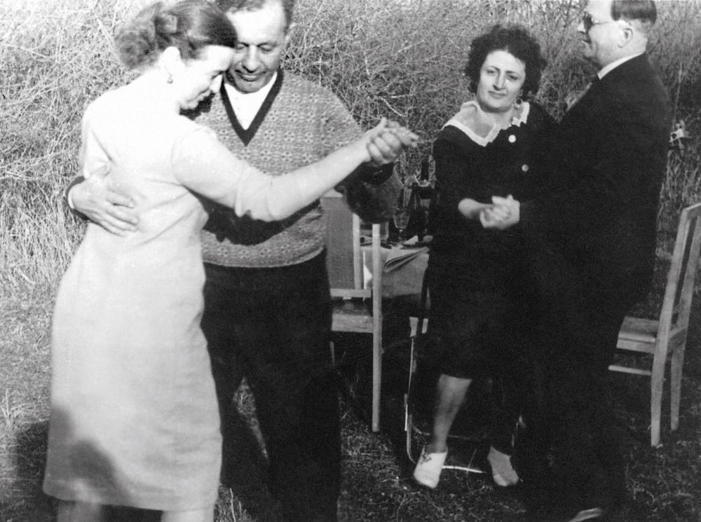 Hamazasp Babadzhanian insieme alla moglie Argun