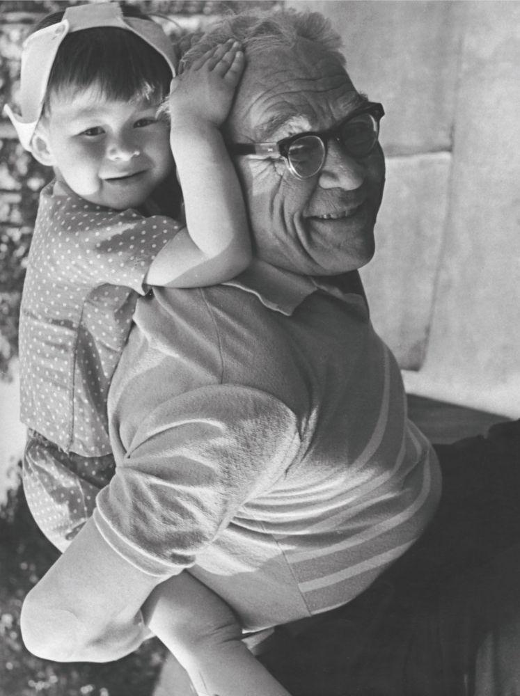 Il maresciallo Vershinin con suo nipote Andrey nel 1970