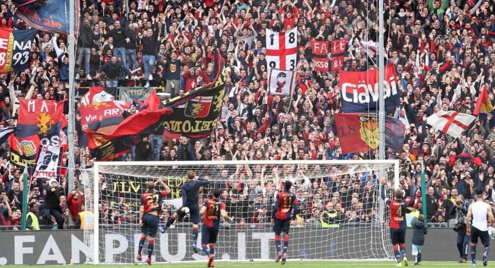 Tifosi di Genoa CFC durante la partita del club