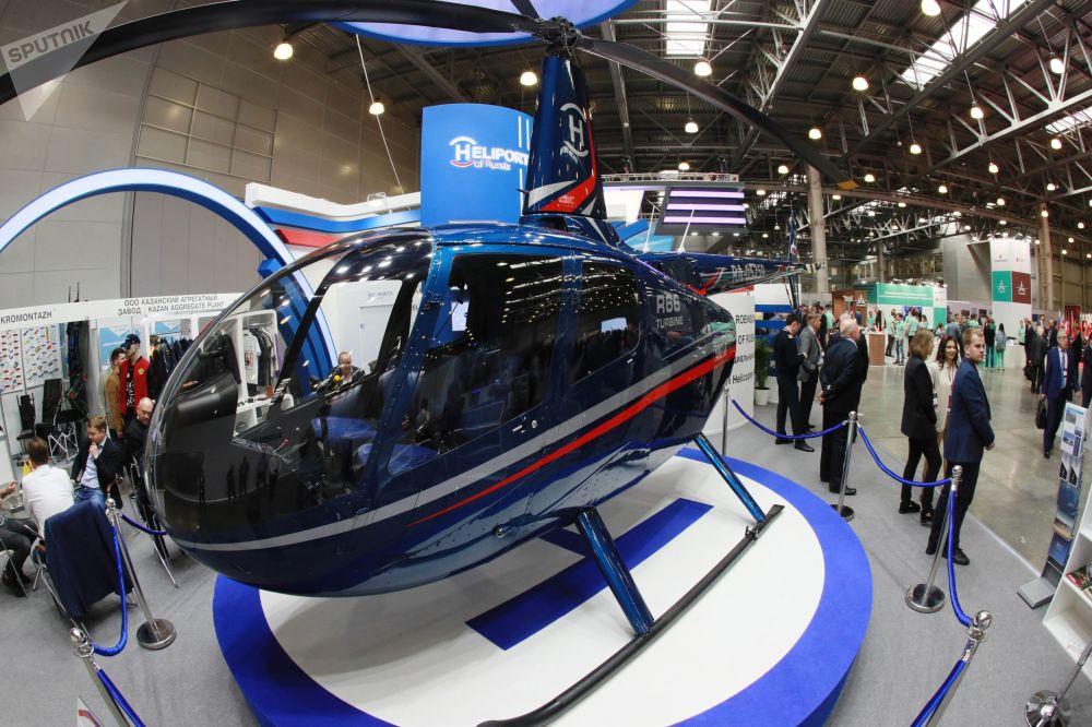 L'elicottero multifunzionale R66 prodotto dalla statunitense Robinson Helicopters HeliRussia - 2019