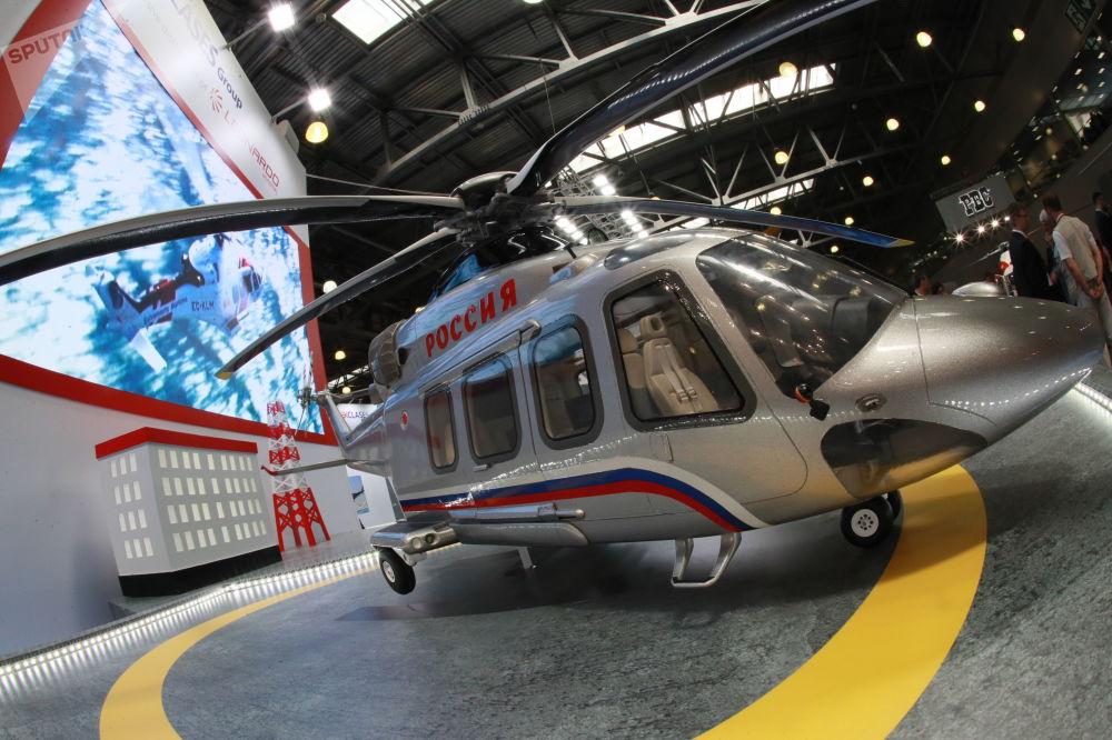 L'elicottero bimotore Augusta Westland AW139 della Leonardo Helicopters