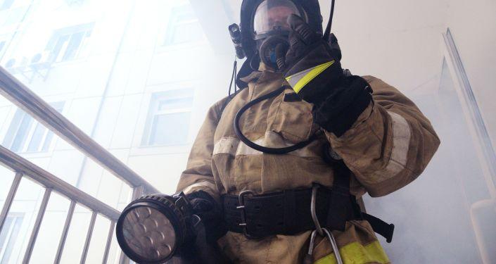 Pompiere russo (foto d'archivio)