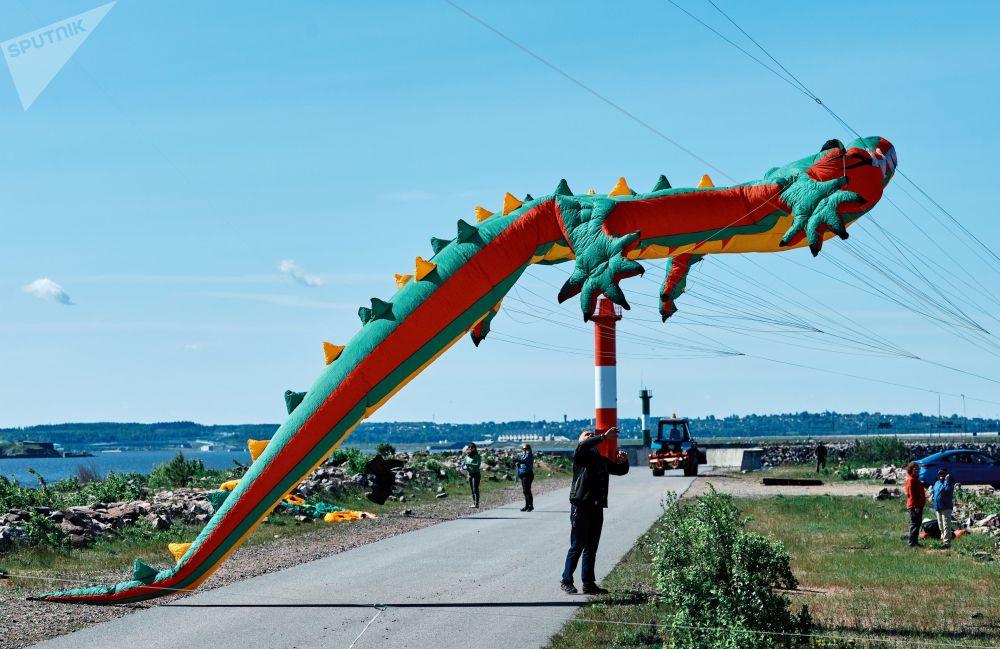 Il festival degli aquiloni a Kronstadt
