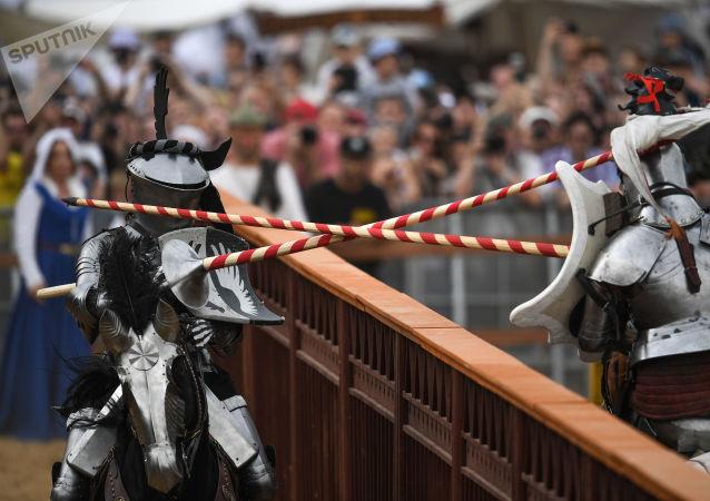 Il duello tra due cavalieri
