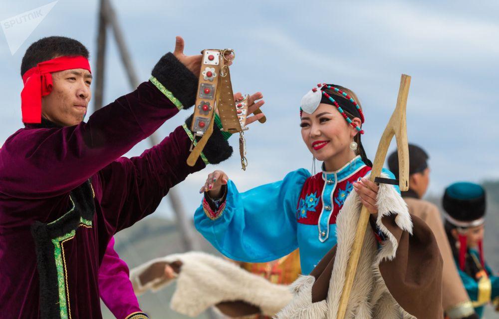 Cerimonia dell'inaugurazione del festival internazionale Giochi dei popoli dell'Eurasia.