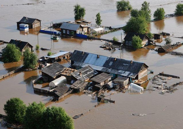L'alluvione nella regione di Irkutsk