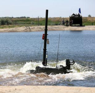 Un carro armato T-90A durante le esercitazioni