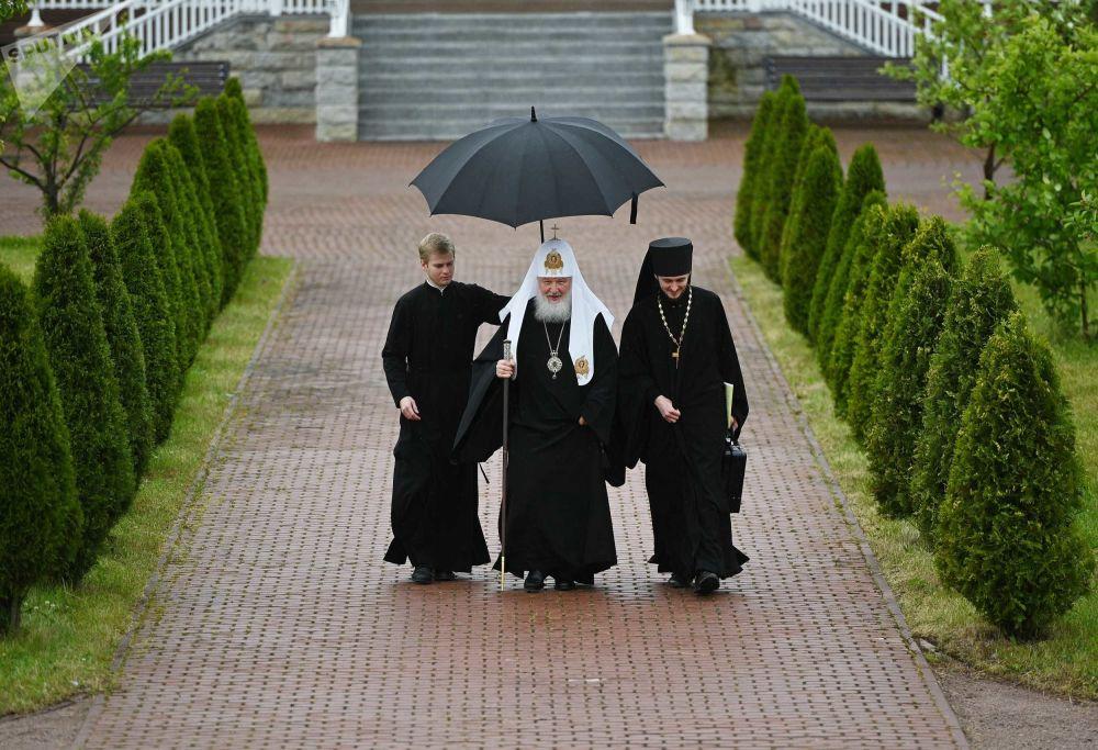 Il patriarca russo Kirill al Monastero di Valaam.