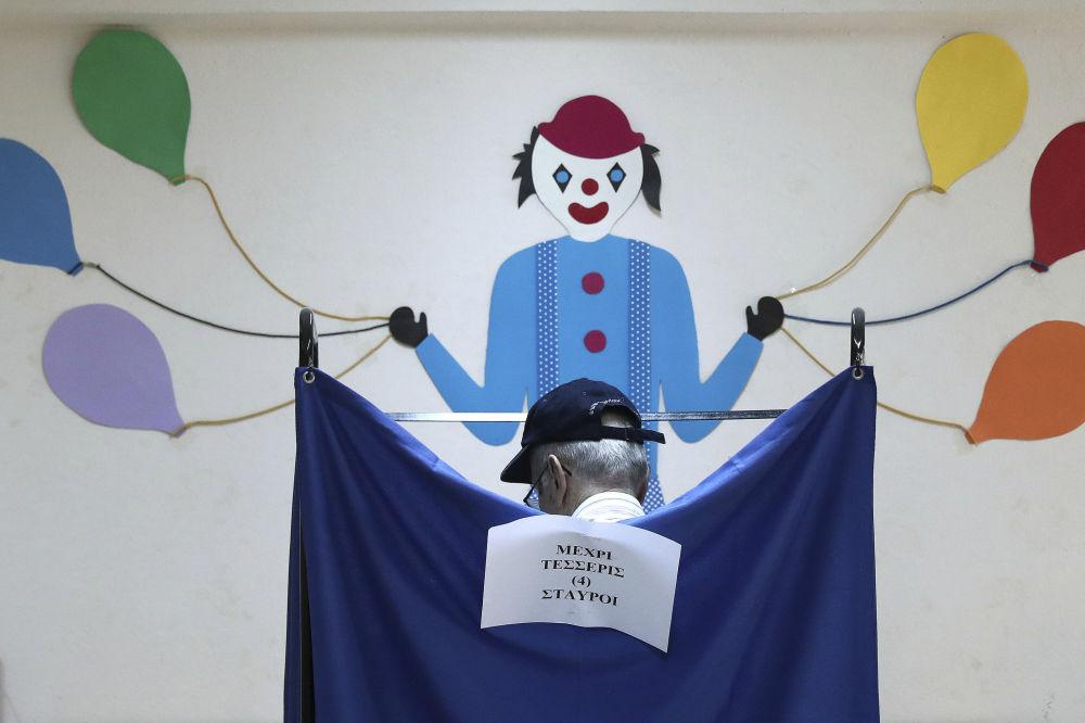 Le elezioni ad Atene, Grecia.