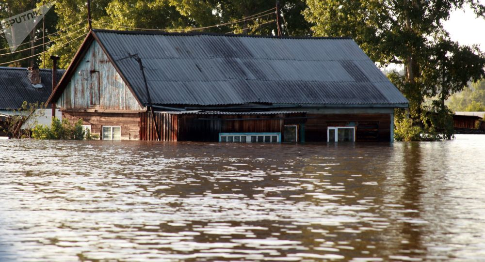 Inondazione a Tulun, Russia