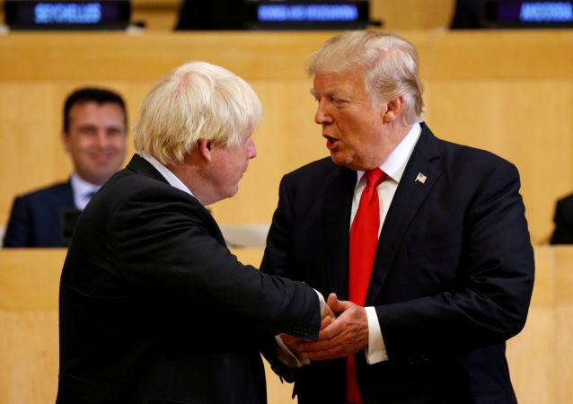 Boris Johnson e Donald Trump nel quartiere generale ONU a New York
