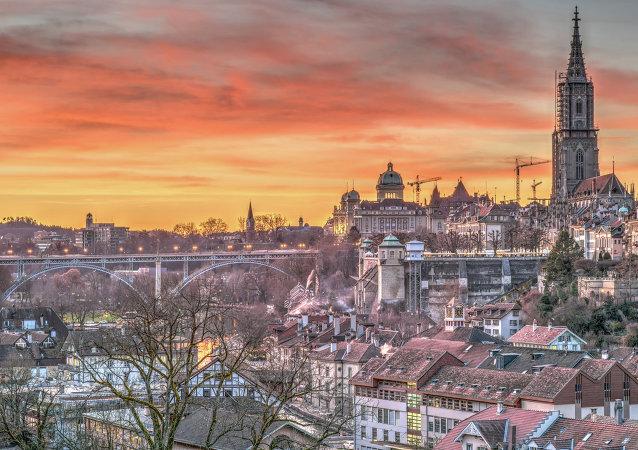 Una veduta di Berna, in Svizzera
