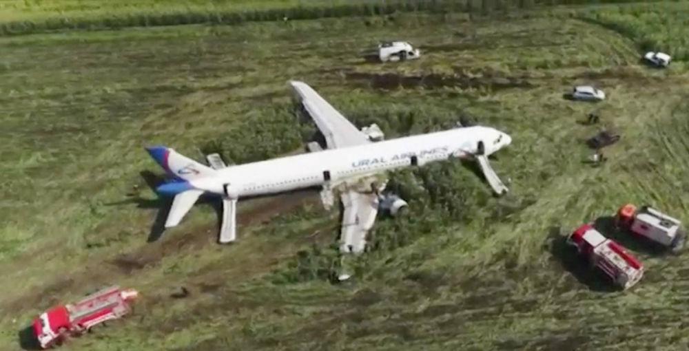 Russia, atterraggio di emergenza a causa di uno stormo: 23 feriti