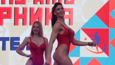 Ballerine a Mosca, in occasione della Giornata dello Sport russa