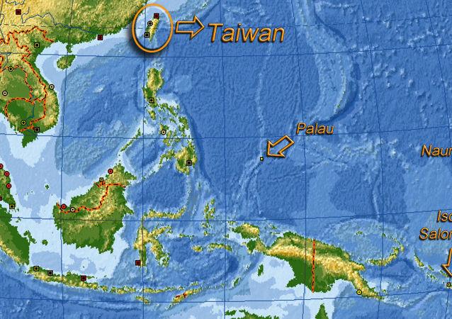 Taiwan, Palau, Isole Salomone, Nauru - posizione sulla mappa