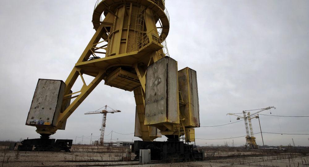 La centrale nucleare di Belene, Bulgaria, in stato di abbandono nel 2013