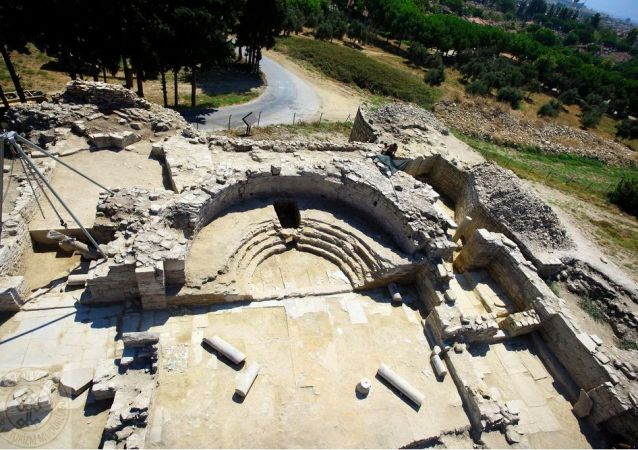 Gli scavi di un castello bizantino