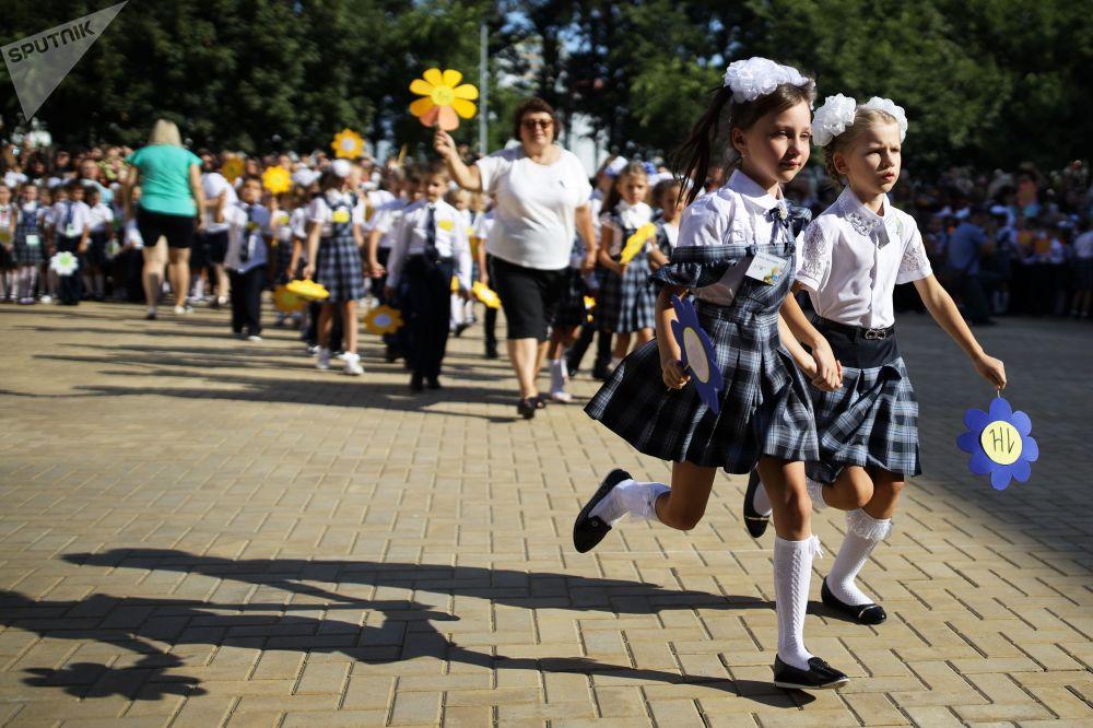 Il primo giorno dell'anno scolastico a Krasnodar.