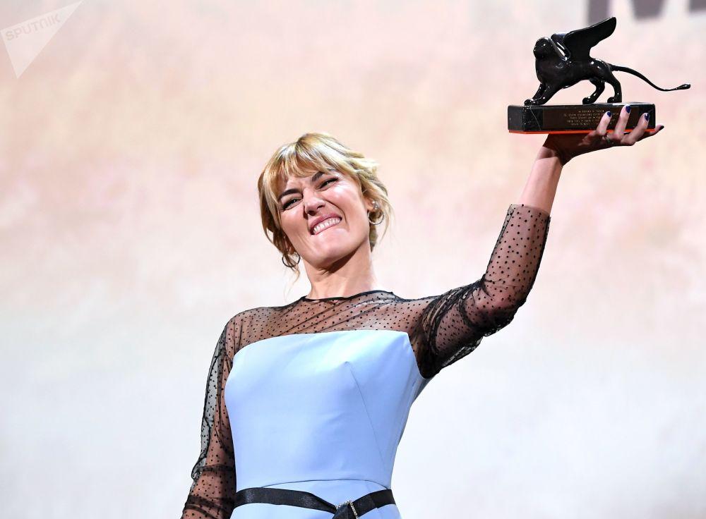 La spagnola Marta Nieto, che ha ottenuto Premio Orizzonti per la Migliore Attrice nel film Madre di Rodrigo Sorogoyen.