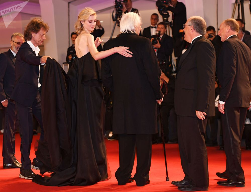 Regista Giuseppe Capotondi, musicista Mick Jagger, attrice Elizabeth Debicki e attore Donald Sutherland.