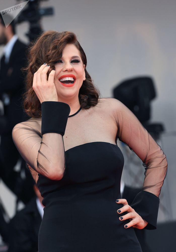 Attrice brasiliana Barbara Paz.