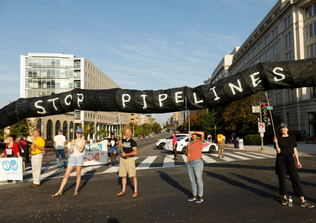 Corteo di ambientalisti a Washington