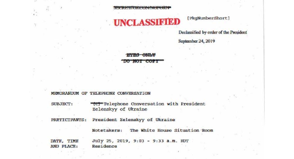 La trascrizione della telefonata tra Trump e Zelensky avvenuta il 25 luglio 2019