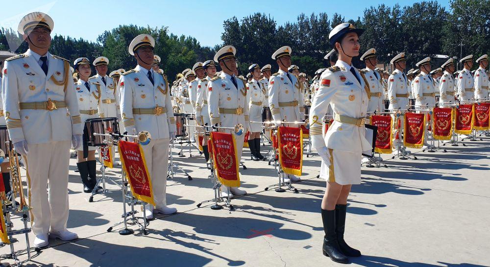Le prove della Parata per il 70° anniversario di nascita della Repubblica popolare cinese.