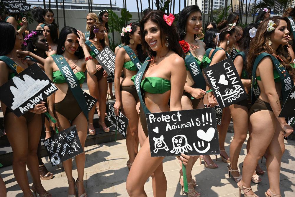 Una candidata di Miss Earth 2019 di Panama.