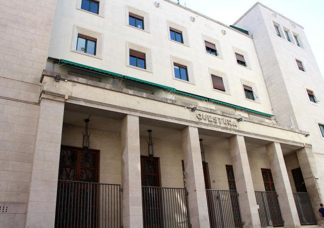 Il palazzo della questura di Trieste