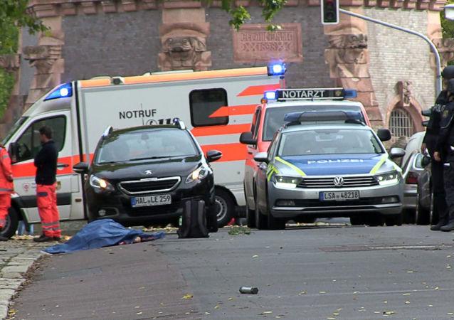 La situazione a Halle dopo la sparatoria, il 9 ottobre del 2019